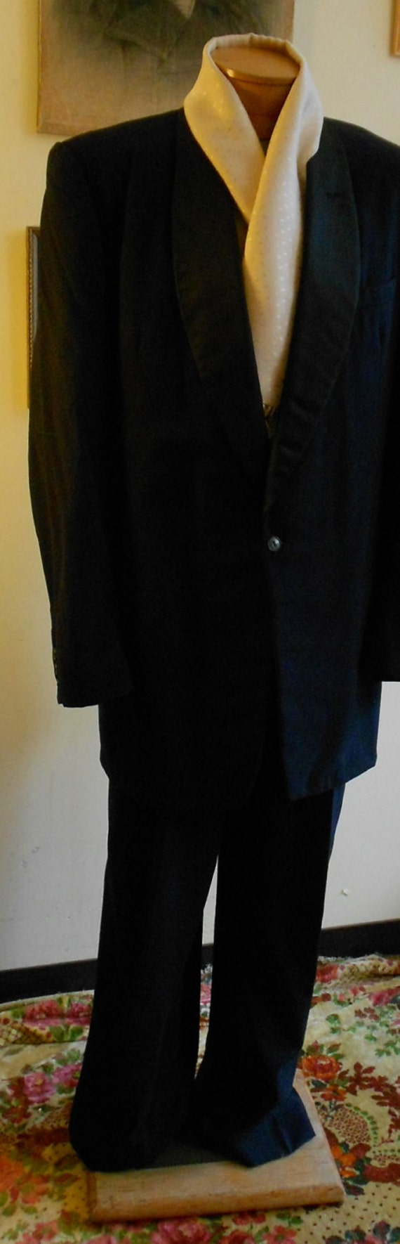 """1950's, 44"""" chest, tux suit jacket, 38"""" suit pants"""