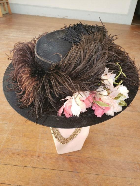 1905 Edwardian, wide brimmed hat
