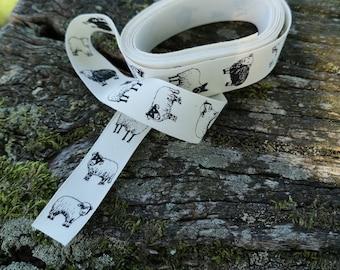 Unbleached Cotton Ribbon - British Sheep Breeds