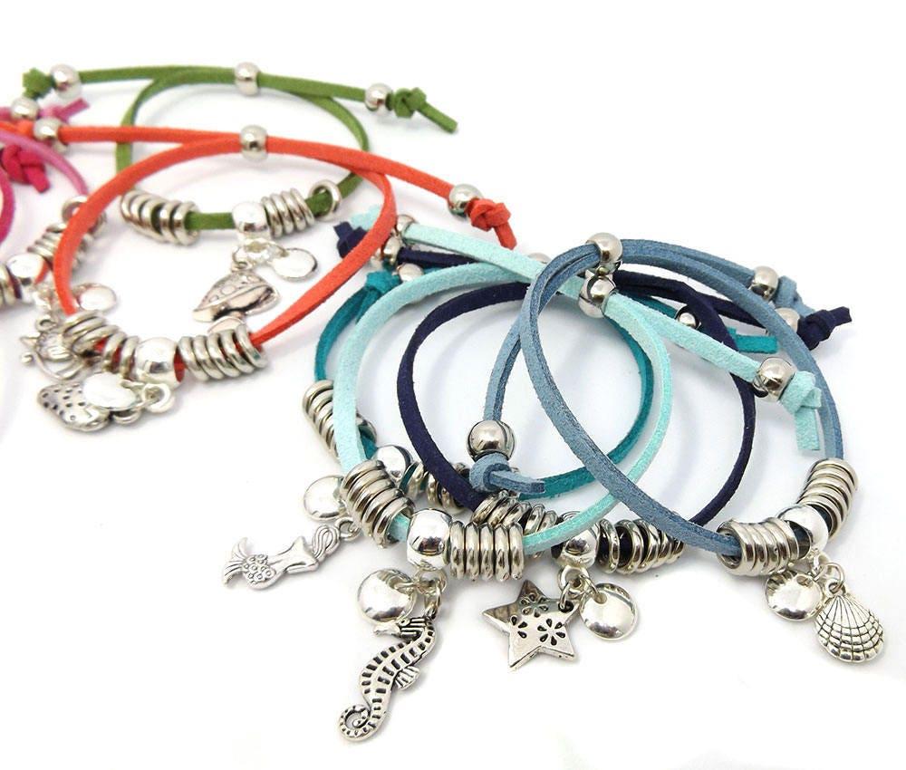 Make Your Own Charm Bracelets: Bulk Friendship Charm Bracelet Kit Make Your Own Faux