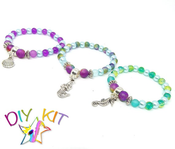Mermaid Party Favours DIY Bracelet Kits Beach Gifts