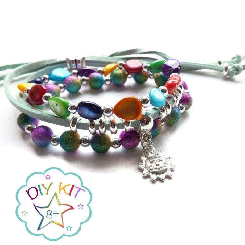 7828b600cc5931 Rainforest DIY festival stack bracelets Set of 3 stacking