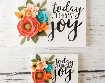 Today I choose joy mini and itty bitty signs.