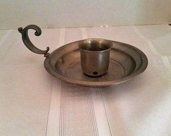 Vintage Pewter Candlestick Holder