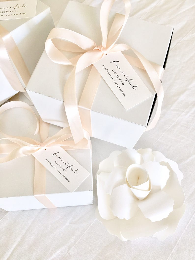 Luxury Boxed French paper Flower Gift by Fanciful Design Co on Etsy