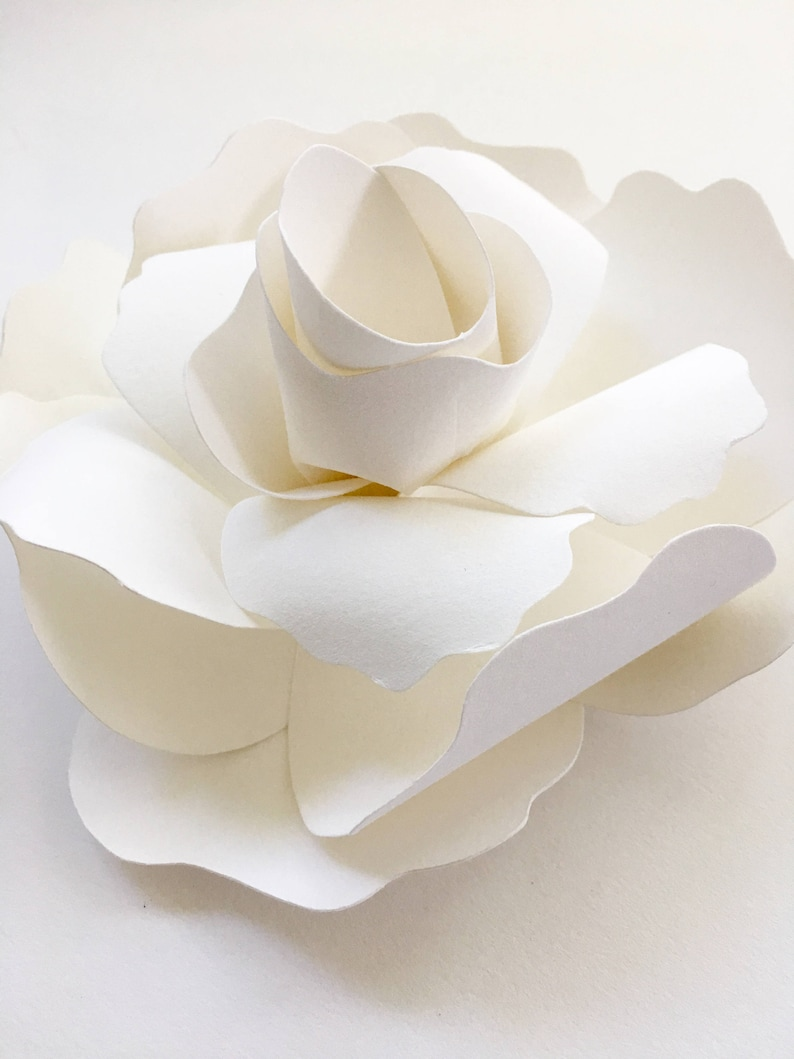 French paper gardenia flower by Fanciful Design Co