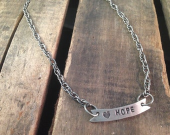 Hope Banner Necklace