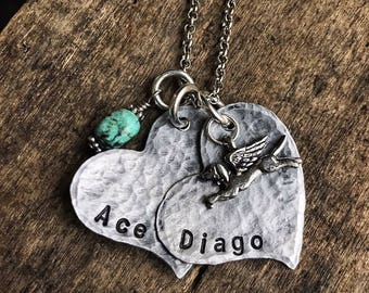 Pet Memorial Necklace- Dog Gift- Pet Loss