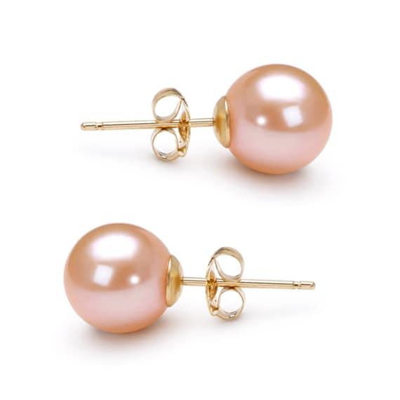 Akoya Pearl Earrings Studs AAA 6mm-10mm Japanese White Pearl Earrings Stud Bridesmaid Earrings Stud Free Shipping