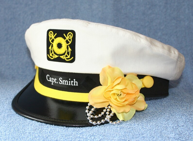 f37a9a5fd91 Personalized Yacht CAPTAIN S Hat perfect for Sailing and