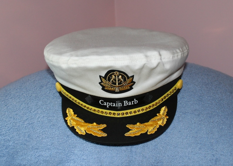 0b0a668224c31 BLING Yacht CAPTAIN S Hat  Personalized sailing for any