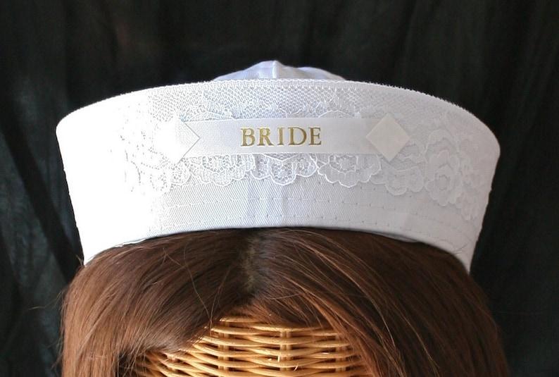536e7b85136 BRIDE Sailor Hat perfect for Nautical Bachelorette Party or