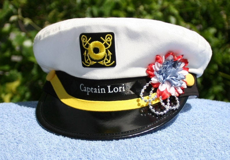 08f24521e2a Personalized Yacht CAPTAIN S HAT perfect for Sailing and