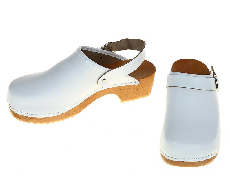8355923484daa Clogs white with turnable strap