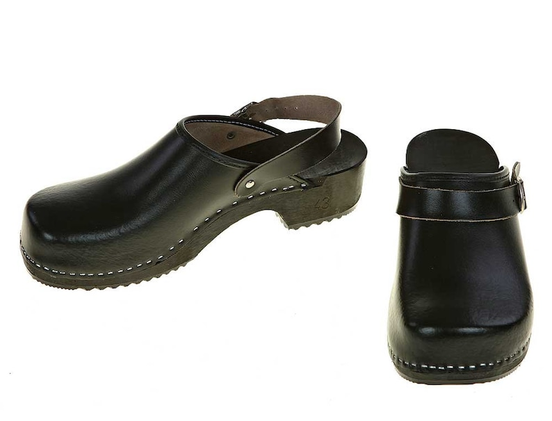fd5245150f2a2 Clogs black with turnable strap