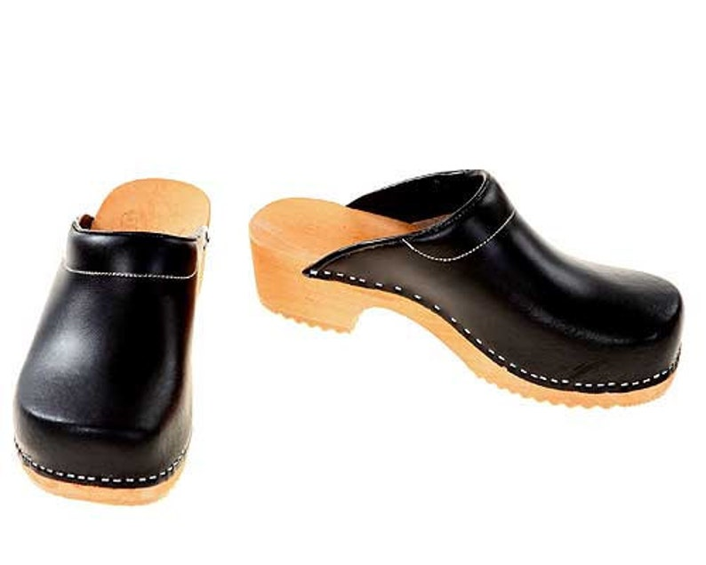 Clogs black / bright sole with pad image 0