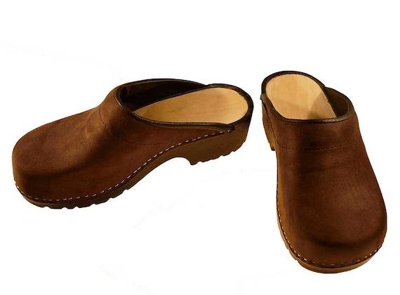 Soft Clogs Nubuk Leather Etsy