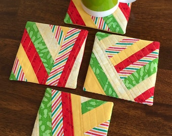 """Mug Rugs/coasters quilted - """"Summertime1"""""""