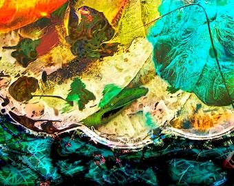 "Canvas Wrap Print, Abstract Celestial Environmental Art, 24"" x 16.5"" x .5"", by John Dyess"
