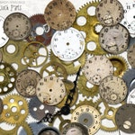 Vintage Clock Parts instant download ephemera pack, printable, digital collage, diary / junk journal, altered art, mixed media, clipart