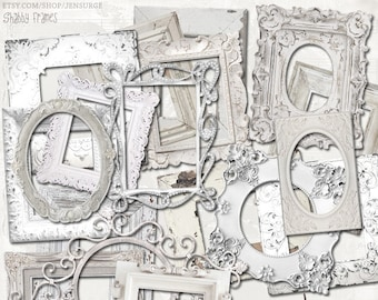 Shabby Frames digital scrapbooking graphics kit / clipart / altered art / mixed media collage / instant download / printable