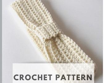 Crochet Pattern, Ear Warmer, Bow Head Wrap, DIY Craft INSTANT DOWNLOAD