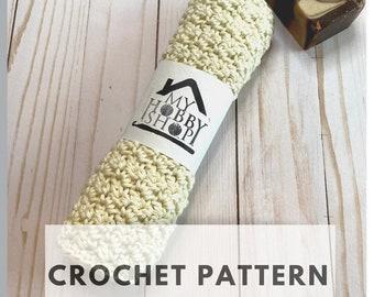 Crochet Pattern Cotton Washcloth DIY Craft Facial Scrubbie - 2 for 1 - INSTANT DOWNLOAD