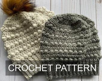 Winter Berries Hat Crochet Pattern