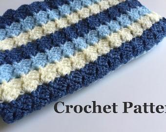Crochet Baby Blanket Pattern Beginner Crochet Throw Easy Crochet Afghan - INSTANT DOWNLOAD