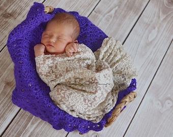 Crochet Pattern, Newborn Photo Prop, Crochet Baby Blanket, Photography Prop, Basket Filler, Newborn Baby,DIY,  DIGITAL DOWNLOAD