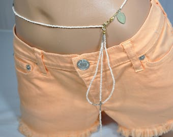 Peach Belly Chain Bikini Belt