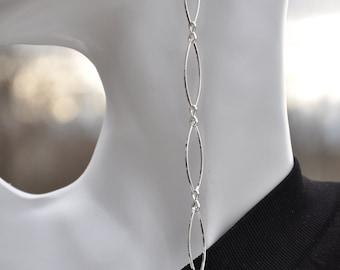 Long & lanky chain beehive earrings