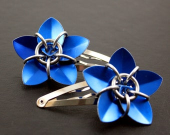 Scalemaille Flower Hair Barrette