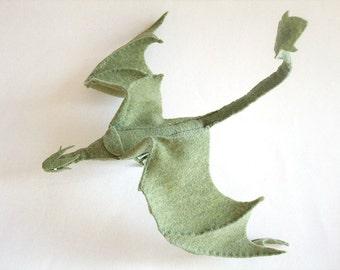 Plush Poseable Dragon PATTERN (PDF file)