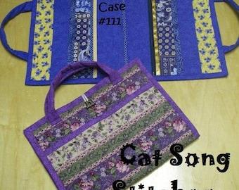 Attache Case, brief case, paper file, organizer,child's activity tote- sewing instructions/pattern-pdf