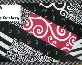 """Flip Quilt, Table Runner, Wall Hanging, Coaster, easy- perfect for """"non-quilters"""" Sewing Instruction -pdf"""