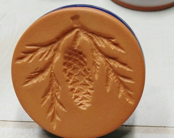 Pine Cone Cookie Stamp Rycraft Terra Cotta Craft Butter