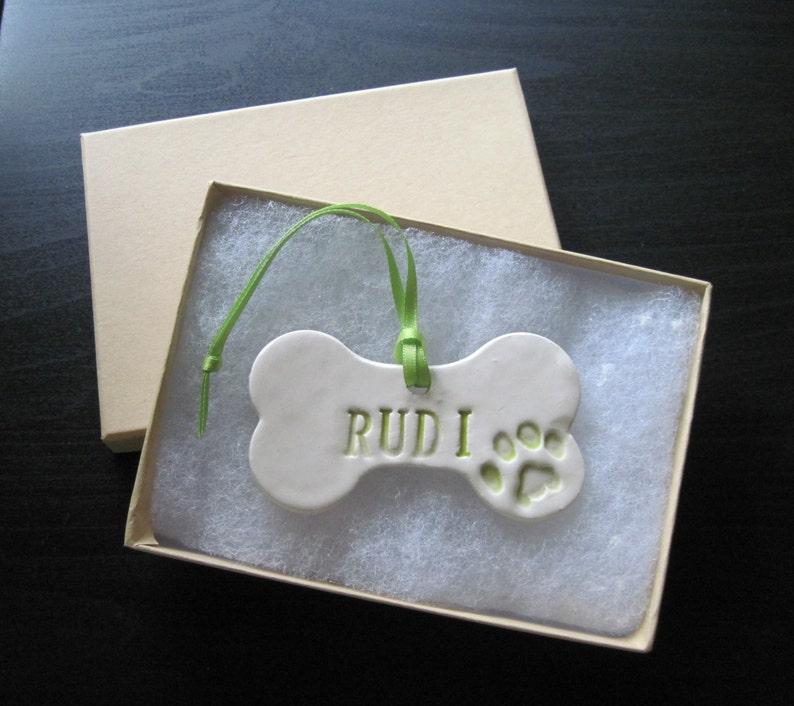 Dog Bone  Ornament Personalized
