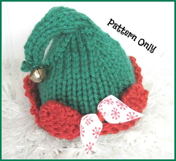 Elf Hat Knitting Pattern Sized Newborn Baby Child And Adult Etsy