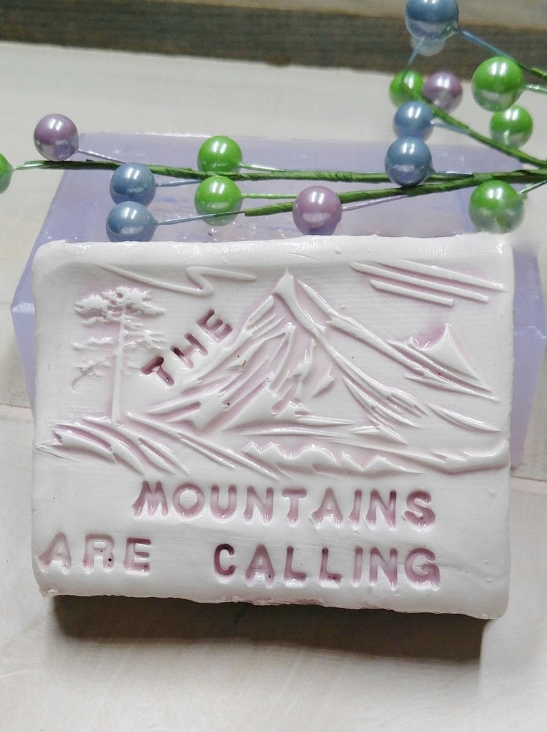 Candles etc. The Mountains are Calling Silicone Mold for Soap Chocolate