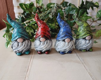 Concrete Gnomes, Cement Figurines, Cement Gnomes, Concrete Figurines, Paperweights, Garden Gnomes, Small Gnomes, Tomtes, Listing is for One
