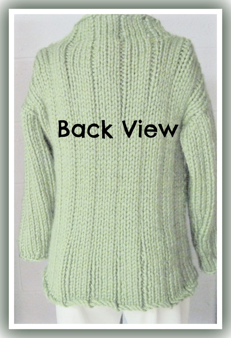 Loose Long Bulky Sweater Knitting Pattern for Teen to ...
