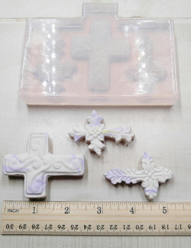 Crosses 3 cavity Silicone  Mold