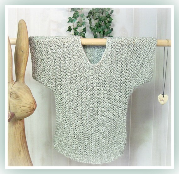 Larger Sizes Bamboo Summer T-Top Adult Knitting Pattern XL | Etsy