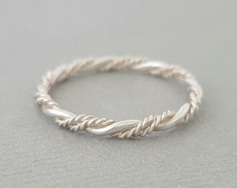 Triple Twist Ring sterling silver ring stacking ring gifts for her mum girlfriend sister best friend