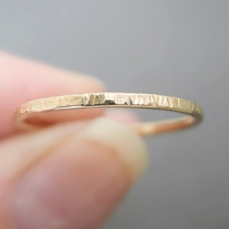 47bddd7c70a0f Gold Ring minimalist textured band gold filled thumb ring stackable ring  silver or gold thin gold band sister gift