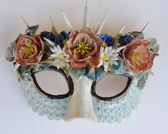 Flowers mask - stoneware