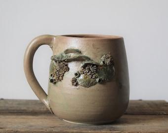 "Stoneware Tea Cup  ""Fistulina"""