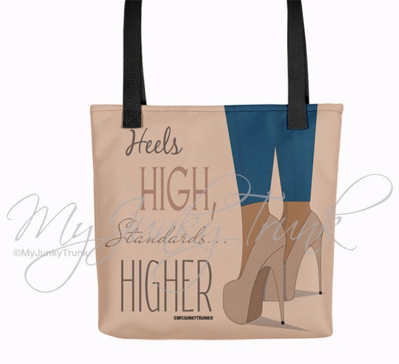 31b32ad79f1 Higher Standards- African American Shoe Lover Black Woman TOTE BAG