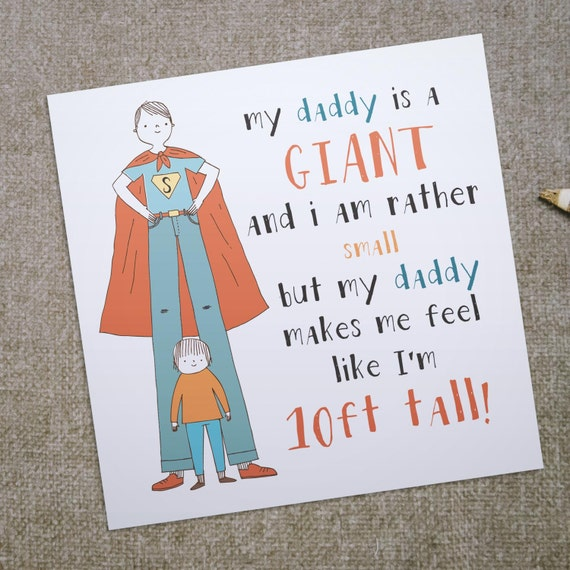 My daddy is a giant greeting card for dad ideal birthday etsy image 0 m4hsunfo